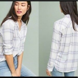 Rails Hunter White Coast Blush Button Down Shirt